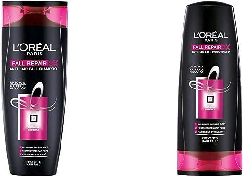 L'Oreal Paris Fall Resist Anti-Hair Fall Shampoo 3X, 175ml+L'Oreal Paris Fall RESIST 3X Conditioner, 175ml product image
