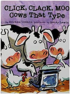 Click,Clack,Moo Cows That Type By Doreen Cronin Educational English Picture Learning Card Story Book For Baby Kids Childre...