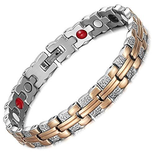 Pulsera de acero inoxidable para mujer con imán de cuidado de la salud pulsera de moda exquisita pulsera de mujer