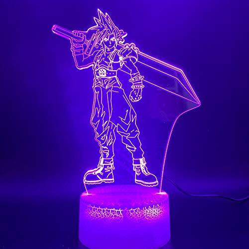 Einzigartiges Kunstdesign 3d führte Nachtlichtlampe Wolkenschlachtfigur nach Hause Farbwechsel Nachtlicht Tischlampe Sammlung Geschenk