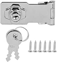 1 Stuks Buckle Lock 14,2 X 4 Cm (5,6 X 1.6in), Roestvrij Staal Drawer Cabinet Cabinet Kast Furniture Buckle 2 Keys, Met Sc...