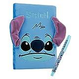 Disney Set Cancelleria con Agenda A5 e Penna, Cancelleria Kawaii di Stitch, Disney Gadget per Donna e Bambina