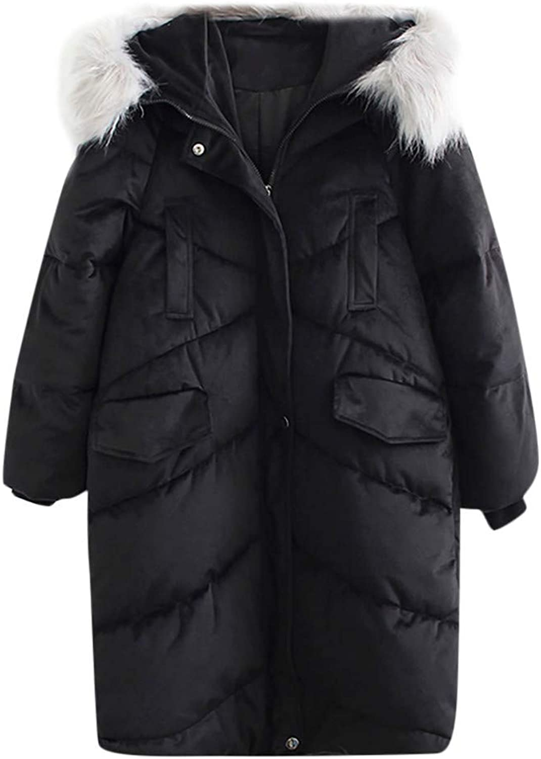 DaySeventh Clothes Women's Large Size Thick Long Hair Large Fur Collar Down Jacket