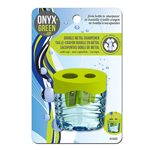 Onyx and Green Double Sharpener, Metal, RPET Reservoir (2400)