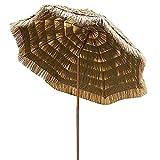 Ombrellone da Giardino in Paglia,Ombrellone in Paglia 200 cm Tiki Rotondo Tropicale Capanna in Rafia,Ombrellone da Spiaggia Hawaiano