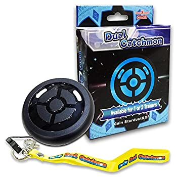 Dual Catchmon | Automatically Catching & Collecting Items Compatible with Pokemon Go | Up to 2 Trainers use | iOS and Android Compatible  Black