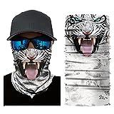 Colorful Damen/Herren Multifunktionstuch | Sturmmaske | Bandana | Schlauchtuch | Halstuch für Motorrad Fahrrad Ski Paintball Gamer Karneval Kostüm 3D Tiere Maske (G)