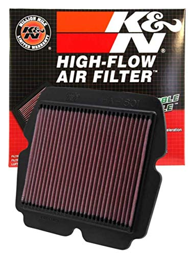 K&N Engine Air Filter: High Performance, Premium, Powersport Air Filter: 2001-2017 HONDA (GL1800, Gold Wing, F6B Deluxe, AC, ACN XM, ABS, Airbag, F6B, Valkyrie, ABS, Gold Wing PA) HA-1801