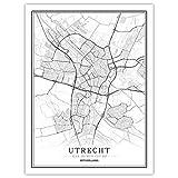 Lonfenner Leinwand Bild,Utrecht Niederlande Abstrakte Farbe