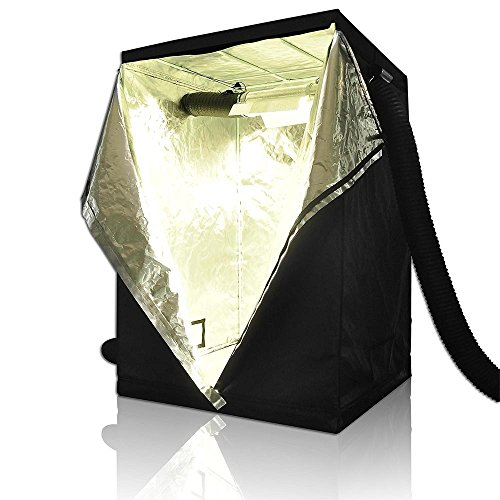 LAGarden 48'x48'x78' 100% Reflective Diamond Mylar Hydroponics Indoor Grow...
