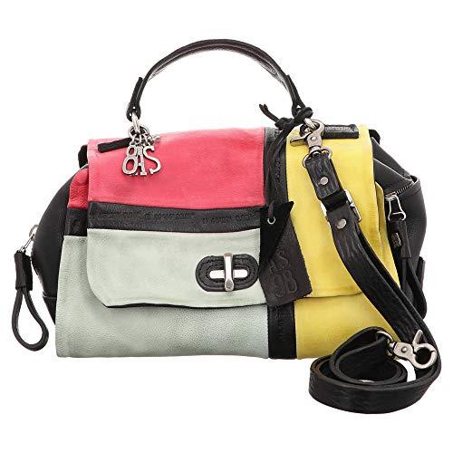 AS98 | Airstep Handtasche Patchwork - schwarz | gelb | pink, Farbe:schwarz, Größe:1