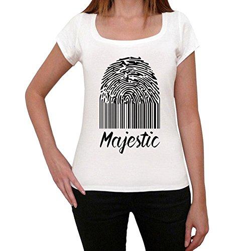 Majestic Fingerprint, Camiseta Mujer, Huella Dactilar Camiseta, Camiseta Regalo