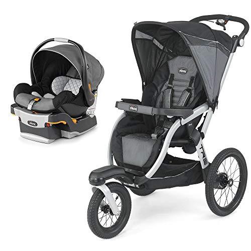 Chicco KeyFit 30 Infant Car Seat, Orion and TRE KeyFit Jogging Stroller, Titan