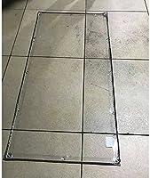 ティッシュプレーンの木飛行機カバー植物計画透明な床面カバーのテントプラスチックPVCの防風防波強化強化頑丈なバルコニー、税関、500g /m² (Color : Transparent, Size : 2x4m)