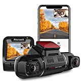 Dual Dash Cam Car Dash Camera 1080P 2160P Front and Rear 330° HD Angle Lens Recording G-Sensor APP WiFi Control Night Vision 24hr Motion Detection(with Car Mount Bracket), Support 128GB SD Card