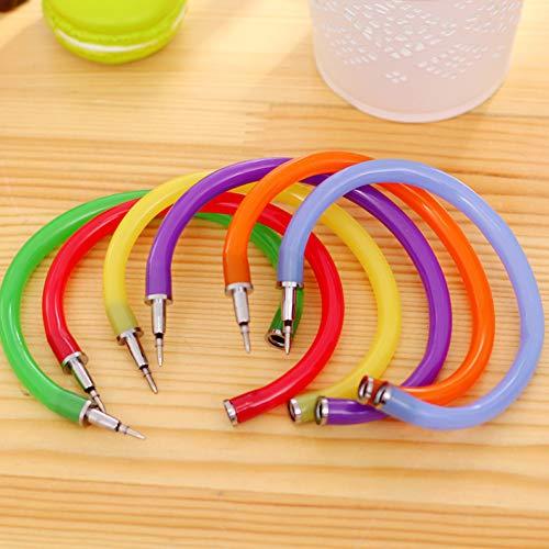 DishyKooker Pulsera Bolígrafo Bolígrafo Novedad Flexible Papelería Papelería Estudiante Office Supply Color Aleatorio artículos de Producto