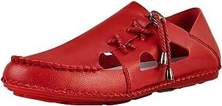 Men Sandals Summer Beach Sandal for Men Side Slipper Microfiber Leather Handmade Outdoor Shoes Comfortable