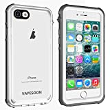 Vapesoon iPhone SE 2020 Waterproof Case, iPhone 7/8 Waterproof case, Waterproof Shockproof Snowproof Clear Case for iPhone SE 2020/7/8-Gray+White/Transparent