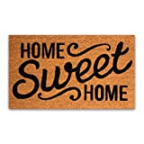 """Coco Coir Door Mat with Heavy Duty Backing, Home Sweet Home Doormat, 17""""x30"""" Size, Easy to Clean Entry Mat, Beautiful Color and Sizing for Outdoor and Indoor uses, Home Decor"""