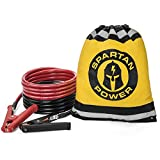 15 Foot 1/0 AWG 0 Gauge Heavy Duty Jumper Cables Booster Set by Spartan Power - 1/0 AWG, 15 Foot Made in the USA