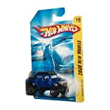 Hot Wheels 1:64 Diecast car '2008 NEW MODELS' HUMMER H2 SUT BLUE 15 OF 40 (08 015/196)