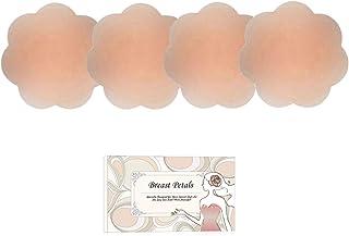 シリコンパッド - ニプレス レディース シリコンブラ ニップルシール 繰り返し使用 女性用 洗えるシリコン製 ベージュ