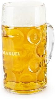 Regalo Original Jarra de Cerveza grabada Gigante de Vidrio de Hofbräuhaus 1 litro