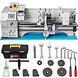 Mophorn Torno Metal Mini 22 x 60 cm 1.1KW Torno Metal Pequeño para Taladrado de Torneado Torno de Trabajo de Metal