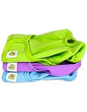 PET MAGASIN Pañales Reutilizables para Perros [Paquete de 3] Pañales Sanitarios para Mascotas, Altamente absorbentes, Lavables a máquina y ecológicos (Solid, M)