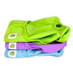 PET MAGASIN Wiederverwendbare Hundewindeln [3er Packung] Hygienische Hundewindeln, hoch absorbierend, Maschinenwaschbar & Umweltfreundlich (Solide, L)