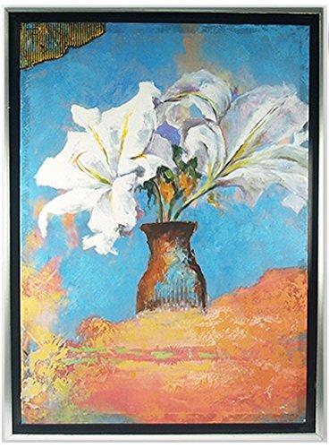 Générique Cadre Tableau Peinture Bouquet de Fleurs - 76 x 56 cm (M4)