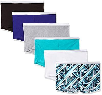 Hanes Women's Cotton Boy Briefs 6-Pack Assorted 8