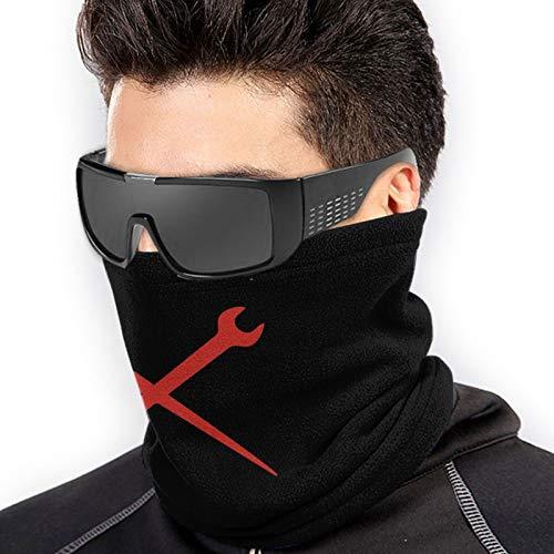 Ironworker Crossed Tools Cloth Face Mask Bandana Neck Gaiter, Sun UV Dust Protection Reusable Tube Scarf Motorcycle Balaclava for Men Women