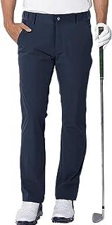 aoli ray Mens Golf Trousers Waterproof Slim Fit Lightweight Stretch Outdoor Pants Navy Medium