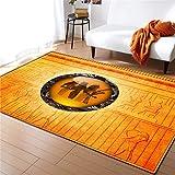 Super suave Alfombra antideslizante Alfombra durad 3D Alfombras egipcia Figura Pintura Salón de Mats antideslizante dormitorio manta de área de la franela de la decoración del hogar alfombra de la man
