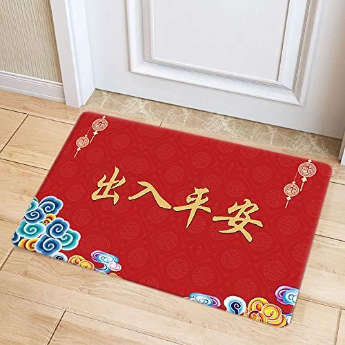 DRTWE Alfombra de terciopelo suave, con letras de seguridad, para sala de estar, dormitorio, antideslizante, cálida, para yoga, meditación, para niños, 100 x 150 cm