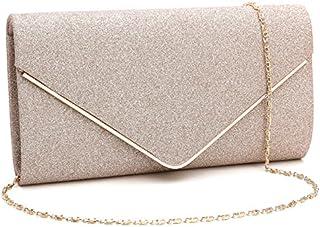 GESU Womens Shining Envelope Clutch Purses Evening Bag Handbags For Wedding and Party