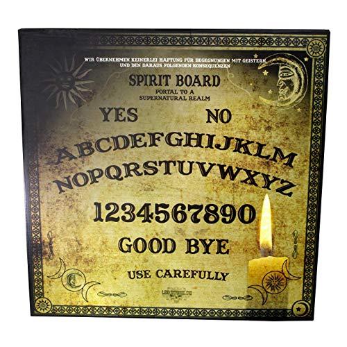 LEO STORE.DE Ouija Board Hexenbrett Spiritboard Portal to a Supernatural Realm Talking Spirit Board Witchboard Wahrsagerbrett Okultismus