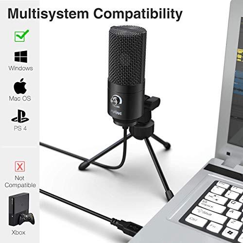 FIFINE Micrófono USB, PC Micrófono de metal de condensador para Grabación en ordenadores, Estudio de grabación de cardioide, Voice Overs, Transmisión en Streaming y Videos - K669B trabajando en línea
