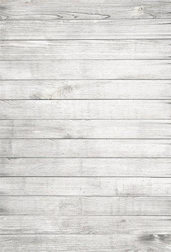 YongFoto 1x1,5m Vinyl Foto Hintergrund Holzboden Weißes Hölzernes Hellgraues Rustikales Hölzernes Holz Brett Fotografie Hintergrund für Photo Booth Baby Party Banner Kinder Fotostudio Requisiten