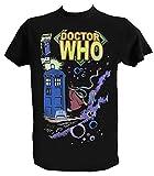 Camiseta Doctor Who Tardis Hombre Niño Negra Angeles Series TV Hombre - L