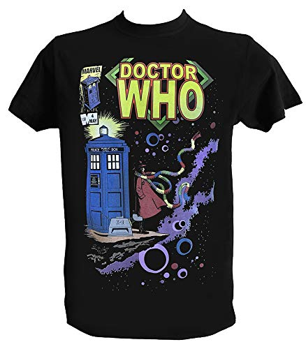 Camiseta Doctor Who Tardis Hombre Niño Negra Angeles Series TV, Niños 1-2 Años