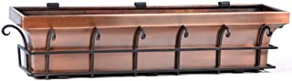 H Potter Copper Window Box Flower Garden Planter 48 Inch Length
