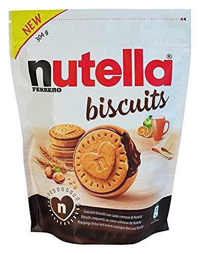 Ferrero Nutella Biscuits - Juego de 2 galletas (304 g, incluye paquete de prueba)