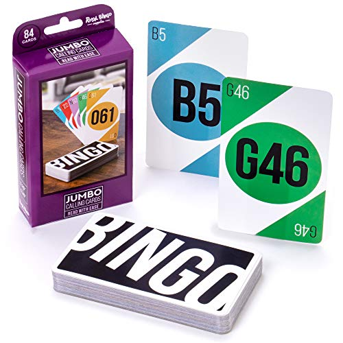 Royal Bingo Supplies Jumbo 5.25' x 3.25' Bingo Calling Cards, Pack of 84