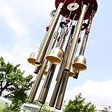 Chino tradicional 10 Tubos asombrosos 5 campanas de bronce Yard jardín Vida al aire...