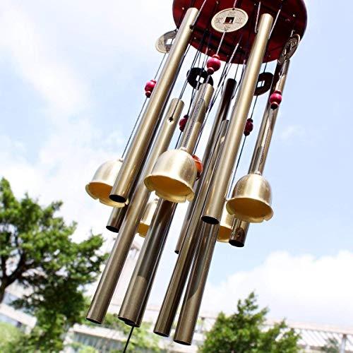 Chinese Traditional Erstaunlich 10 Tubes 5 Glocken Bronze Yard Garten Outdoor Living Wind Chimes 85cm bringen Geld und Glück, bestes Geschenk