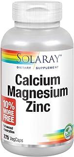 Solaray Calcium, Magnesium, Zinc | High Absorption with Glutamic Acid | Healthy Bones, Teeth, Nerve, Muscle, Heart & Immun...