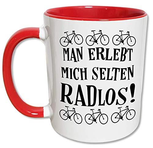Fahrrad Tasse Lustig, Originelles Radfahrer Geschenk für Männer und Frauen, Lustige Spruch Tasse