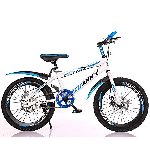 KaiKai Single Speed ​​Mountain Bike, 20/22 Zoll Carbon Steel Fahrrad, Studenten- und Kinderroller, Outdoor Radfahren, MTB, 4,22inches (Color : 2, Size : 20inches)